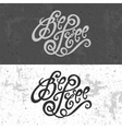 Be Free hand lettering vector image