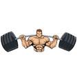 bodybuilder gym mascot vector image vector image