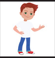 boy character vector image vector image