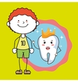boy tooth isolated icon design vector image vector image