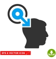 Brain Interface Plug-In Eps Icon vector image