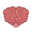 brain silhouette color with top view vector image