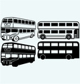 British double-decker bus vector image
