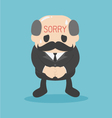 business man Written sorry sign on the Forehead vector image vector image