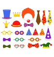 Circus photo booth set vector image