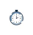 clock logo vctor vector image
