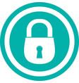 color lock icon image design vector image
