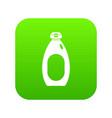 cream bottle icon digital green vector image vector image