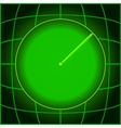 Design green search radar vector image