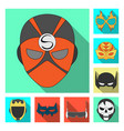design of hero and mask sign collection of vector image