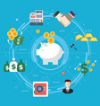 finance and economy investment savings and vector image
