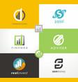 finance logo investment adviser vector image