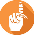 Finger with a Band Aid Icon vector image vector image