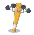 fitness baseball bat character cartoon vector image