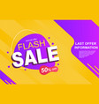 flash sale banner with discount isolated on a vector image