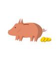 flat piggy bank design vector image vector image