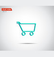 flat shopping cart icon logo design vector image vector image