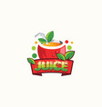 fruit juice logo design fresh drink logo vector image vector image