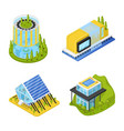 futuristic private houses isometric vector image vector image