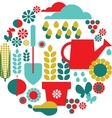 Garden objects organic set vector | Price: 1 Credit (USD $1)