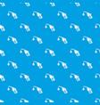 gas pistol pattern seamless blue vector image vector image