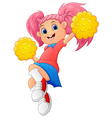 Girl cartoon Cheerleader vector image vector image