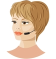 Girl headset support vector image