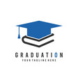 graduation logo education logo university icon vector image