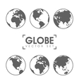 gray globe icons with vector image vector image