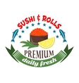 Gunkan maki sushi icon for restaurant menu design vector image
