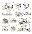 happy new year big set greeting card vector image vector image