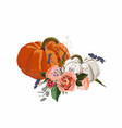 happy thanksgiving floral element vector image