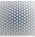Hexagons on a white blue background vector image