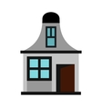 House with a mansard icon flat style vector image vector image