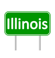 Illinois green road sign vector image