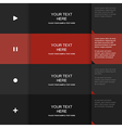 Inforgraphic template for your own design vector image