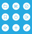 interface icons line style set with forbidden vector image