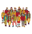 Isolate group young fashion people vector image vector image
