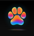isolated colorful animal paw colorful liquid vector image