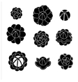 jasmine silhouettes shaps2 vector image vector image