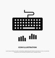 keyboard interface type typing solid black glyph vector image vector image