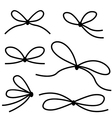 line bow vector image