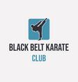 logo design black belt karate club vector image