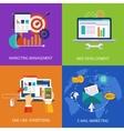 Marketing Technologies Set Concept Art vector image