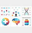 medicine infographic template for human vector image vector image