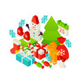 merry christmas winter concept vector image