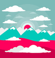 Mountains Flat Design vector image vector image