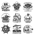 pirates emblem set vector image