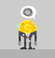 poor coin business man injured vector image vector image