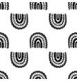 rainbow black and white pattern black rainbow vector image vector image